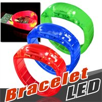 Wholesale ups home use - world cup Music Activated Sound Control Led Flashing Bracelet Light Up Bangle Wristband Club Party Bar Cheer Luminous Hand Ring Glow Stick