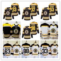 Wholesale zdeno chara - New Season Boston Bruins Jersey 33 Zdeno Chara 37 Patrice Bergeron 63 Brad Marchand 88 David Pastrnak Stitched Hockey Jerseys free shipping