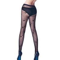 sexy paar strümpfe großhandel-1 Paar Weibliche Sexy Mode Gothic Punk Spitze Schwarz Netzstrümpfe Strumpfhosen