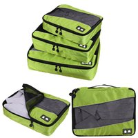 Wholesale travel socks bag - 3 Pcs Set Packing Cubes System High Capacity Clothes Luggage Mesh Travel Bags For Shirts Bra Sock Waterproof Bag Organizers