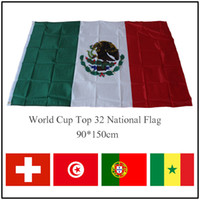 Wholesale Football Supplies - 90*150cm World Cup Top 32 National Flag Polyester Flags Banners Olympic Game Supplies 3*5Feet For Football Fans