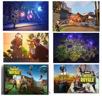 Wholesale paint free games - Free DHL 20*30CM Wholesale NEW Hot Game Fortnite Battle Royale Game Poster Wall Painting Posters Prints on Canvas Art Wall Pictures 100PCS