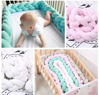 Wholesale Sleep Crib - INS infant Denmark Knot Cushion Pillow Sleeping Support Crib Home Decor Knotted Pillow Knot Ball Chunky Baby Bed Toys 1.5m KKA3857
