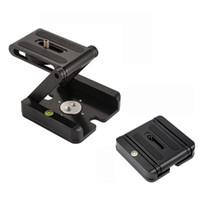 faltplattenhalter großhandel-Flex Folding Kamera Z pan Tilt Stativkopf Aluminiumlegierung Z Typ Schnellwechselplatte Ständer Halter Slider Stativkopf Für Kamera Camcorder
