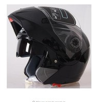 Wholesale visor motorcycle - Motorcycle Dual Visor helmets Modular Flip Up helmet racing double lens capacete casco moto DOT ECE helmet JIEKAI 105 Y