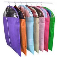 Wholesale suit dust covers - Storage Bag Case for Clothes Organizador Garment Suit Coat Dust Cover Protector Wardrobe Storage Bag for Clothes Organizador