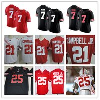 b3b795cd1 Mens Ohio State Buckeyes Damon Webb College Football Jerseys  21 Parris  Campbell JR.  25 Mike Weber JR. Ohio State Buckeyes Jersey S-3XL