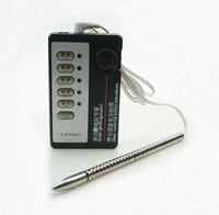 sonda uretral para hombres al por mayor-Medical Electro Shock Kit Urethral Sound Penis Plug Host Metal Electro Sonda de próstata Estimulación Eléctrica Juguetes Sexuales para Hombres S1022