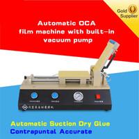 ingrosso pompe ad aria compressa-3in1 Auto OCA polarizzatore Film laminazione laminatore macchina pompa a vuoto incorporata con compressore d'aria per il telefono Riparazione dello schermo LCD