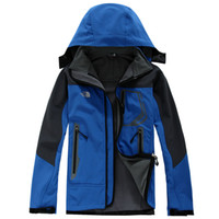 Wholesale man casual clothes for winter online - HOT The new autumn and winter north fleece sweater jacket soft shell jackets for men norte face outdoor sports clothes