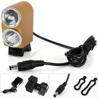 Wholesale x cree led bike lights resale online - Dark Knight K2G x Cree XML L2 LED Bike Headlights Taillight Lamp LM Modes K