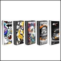 vape mods grátis venda por atacado-Komodo C3 Art Bateria Acessível 510 Cartucho com Preaquecimento e Tensão Variável Caixa Magnética Vape Mod Para O Óleo Grosso Vaporizador Frete Grátis
