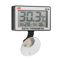 ingrosso serbatoi di pesce-H17894 LCD Digital Fish Tank Acquario Termometro misuratore di temperatura dell'acqua sommergibile 0 ~ 50 gradi centigradi Alta / Bassa Termometro digitale