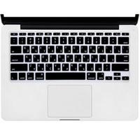macbook siyah kasası toptan satış-2 renk ABD Rus Klavye Filmi koruyucu Macbook Hava Pro Retina 11 inç Laptop Cilt Kapak için Mac kitap Jel durumda siyah