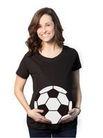 ingrosso tipo collo della camicia-T-shirt bianca Ball Stampa 3D Maternità Top Shorts Manica girocollo Casual Tee 6 Tipi T-shirt stampate divertenti di moda