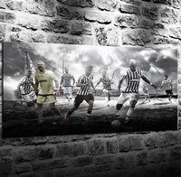 fußball wand leinwand großhandel-Juventus Football Club Fußballmannschaft, 1 Stück Leinwand Wandkunst Ölgemälde Wohnkultur (Ungerahmt / Gerahmt)