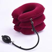 aufblasbares rohr großhandel-Verdickte PVC-Liner Drei Rohr aufblasbare Hals Gebärmutterhalskrebs Traktion Gerät Aufblasbare Kragen Ausrüstung Massagegerät Pflege Massager