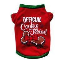 orta boy kostümler toptan satış-Pet Köpek Giysileri Noel Kostüm Küçük Orta Köpek için Sevimli Karikatür Giysi Köpek Bez Kostüm Elbise Noel Giyim için Mont Kitty Yavru