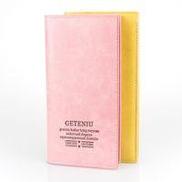 ingrosso portafogli gialli per le donne-Classic Bifold Long Wallet Women Zipper Purse Portafoglio in pelle casual Portafoglio Donna Portemonnee Portable Pink Yellow