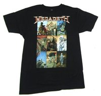 классические картины оптовых-Megadeth Вик Классические Картины Искусства Изображение Черный Футболка Новый Официальный Группа Merch