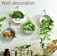Wholesale box shelves - Storage Holders Organizer Creative Flower basket House Wall Decor Wooden Home Products Sundries Jewelry Box Wall Hanger Decoration GGA449