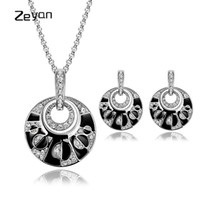 dama africana conjuntos de joyas al por mayor-Zeyan Jewelry Sets Women Party Jewelry Vintage African Necklace Set Accesorios de vestuario Colgante Collar Stud Pendiente Para dama