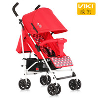 paraguas portátil de coche al por mayor-VIKI Portable Baby Umbrella Car, cochecito de bebé / cochecito ligero, cochecito plegable para niños de 0 ~ 36 meses, puede sentarse puede mentir