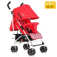 ingrosso ombrello auto portatile-VIKI Portable Baby Umbrella Car, Leggera Passeggino / Carrozzina, Passeggino pieghevole per 0 ~ 36 mesi Kids, Can Sit Can Lie