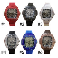 Wholesale bangs online - 2018 Full transparent luxury men s watches Big Bang Unico sapphire watches transparent rubber strap waterproof sports watches DHL free