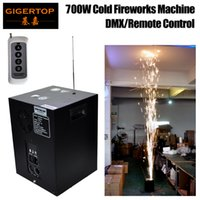 Wholesale spark light - TIPTOP Stage Light W Sparkler Machine non pyrotechnic indoor fireworks cold spark fountain DMX Remote Controller cold pyro V V