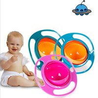 Wholesale cute toddler toys - Universal Gyro Bowl Children's Toddlers Baby Kids Toy Bowl Non Spill Baby Feeding Cutlery Cute Toy Baby Dinnerware Lunch Box Gifts