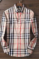Wholesale camisa casual slim fit - 2018 Brand Men's Business Casual shirt mens long sleeve striped slim fit camisa masculina social male shirts new fashion shirt006