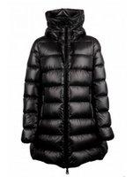 ingrosso giacche in stile oxford-2019 Giacche Capispalla Designer Inverno Donna M Brand Long Style Warm Piumino nero Europeo Fashion Duck Down Cappotto con cappuccio Parka Down