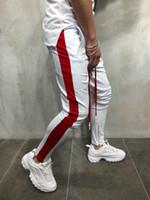 mode straße hiphop großhandel-Herren Hiphop Tanzen Street Jogger Hosen Pantlones Mode Bleistift Reißverschluss Designer Hosen Jogginghose Sportbekleidung