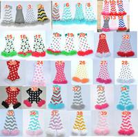 Wholesale Warm Christmas Socks - Baby Chiffon Ruffle Leg Warmer infant girl boy leg warmers children socks Legging Tights Football Baseball Soccer Christmas Leg Warmers