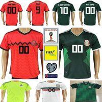 Wholesale Mexico Soccer World Cup Jersey - 2018 Mexico World Cup Soccer Jerseys 9 R.Jimenez 10 G.DOS SANTOS 14 CHICHARITO 7 M.LAYUN 19 O.PERALTA Football Shirt