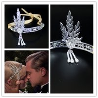 cabelo de luxo venda por atacado-Upscale nupcial coroa casamento Headpiece Terrific Gatsby nupcial Tiara acessórios para o cabelo para mulheres
