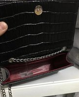 Wholesale eva clutch - New Designer Name Patent Leather Ladies Pouchette EVA EVERNIS CLUTCH BAG Shoulder Red & Black Crocodile Shoulder Bags