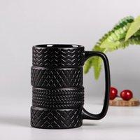 ingrosso ceramica slip-Tazze di stile creativo di gomma 300ml tazze di ceramica di capacità di grande capacità tazze di latte tè tazza di caffè antiscivolo ufficio / casa tazza di acqua