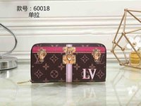 Wholesale pvc bag tags - 2018 Male luxury Women Printed wallet Casual designer Card holder pocket Fashion Clutch Purse wallets for men wallets purse with tags Tote