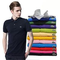 erkekler için markalı polo gömlek toptan satış-2018 Marka Tasarımcısı Yaz Polo Nakış Lüks Erkek Polo Gömlek Tops Moda Gömlek Erkek Kadın Yüksek Sokak Rahat Üst Tee