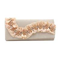 ingrosso borse di fiori 3d-BAIGIO Donna Frizione Portafogli Alta Qualità Perla 3D Fiori Borsa femminile Festa di Natale Elegante borsa floreale