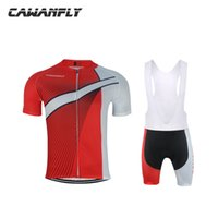Wholesale pink store clothes - CAWANFLY 2018 BBCYCLING Store Cube Cycling Clothing Summer Short Sleeve Quick Dry Bike Clothing 3D Gel Pad Men Cycling Wear