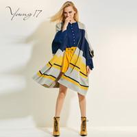 ingrosso cappotto giallo cappotti-Maglione donna autunno inverno Maglione giallo grigio maglione lungo aperto Maglioni cappotti Cappotto blu cardigan allentato a tre quarti