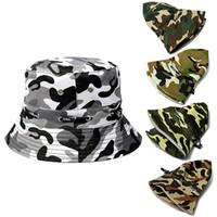Wholesale wide brimmed golf hats women resale online - Bucket Camo Boonie Hat Outdoor Sun Cap Camping Hiking Unisex Men Women Wide Brim Visor Hat Fishing Hunting Bucket Cap