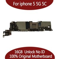 Wholesale Phone Motherboards - Tested Good Working Original Factory Unlock 16GB Motherboard for iPhone 5 5g Mainboard for iPhone5 for iphone5C phone Logic Board IOS system