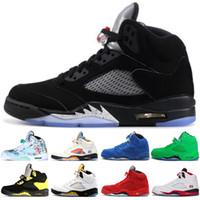 new style c7086 68f12 nike air jordan retro shoes Fresh Prince 5 wings 5s PSG Nero uomo Scarpe da  basket PARIS Laney oreo argento OG White Grape Space Jam mens sport  Sneakers 41- ...