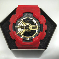 Wholesale boys lighting watch - Relogio- new shockproof digital LED, G big boys sports watch, full-featured, automatic lights, original BOX, waterproof watch, 48 zone time