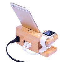 хорошие держатели для телефона оптовых-хорошее качество хорошее качество сотовый телефон монтирует держатели ручной бамбук зарядки док-станция для смартфона / минимализм Дизайн e402