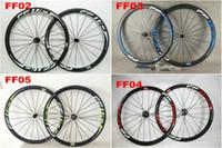 hubs de powerway r36 al por mayor-Oferta FFWD Carbon Road Wheelset 38mm Clincher ruedas de bicicleta R36 Matte / Brillante Carbon Wheelset hub Powerway, 23 mm de ancho